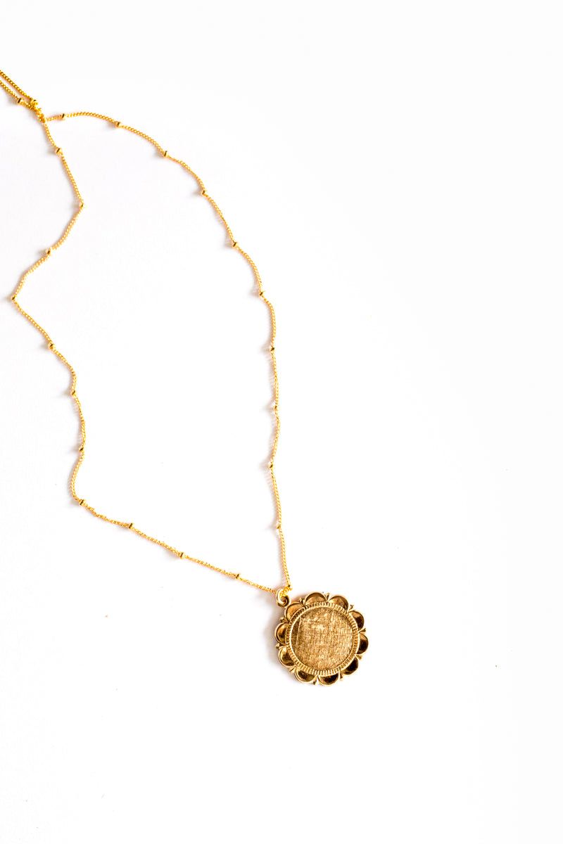 Gold Halo Coin Necklace