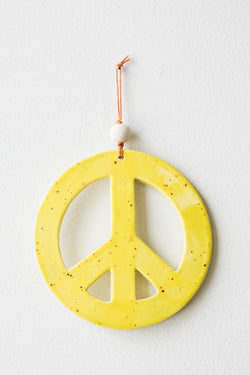 Yellow Peace Wall Hanging