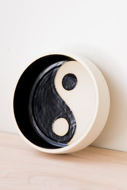 Black + White Yin Yang Bowl