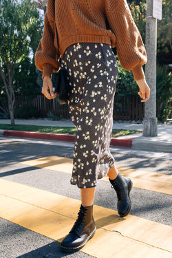 Stevie Floral Dotted Maxi Skirt
