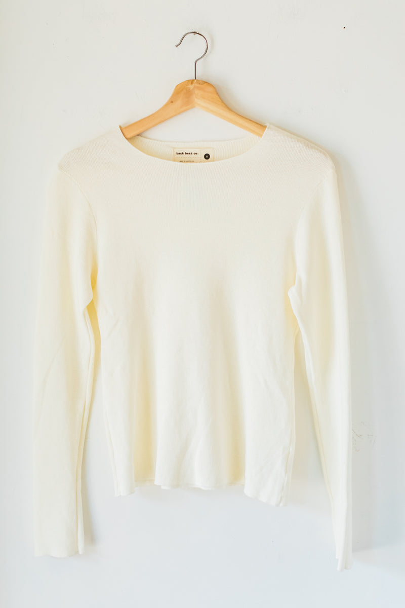 Natural Fitted Long Sleeve