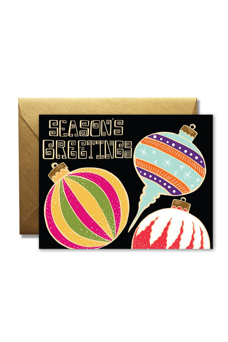Seasons Greetings Ornaments Card