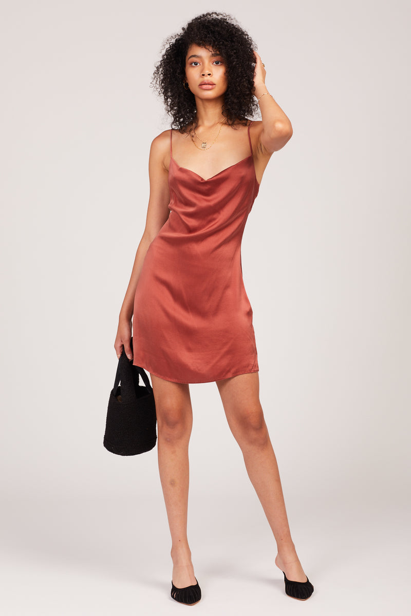 Wine Altavista Slip Dress