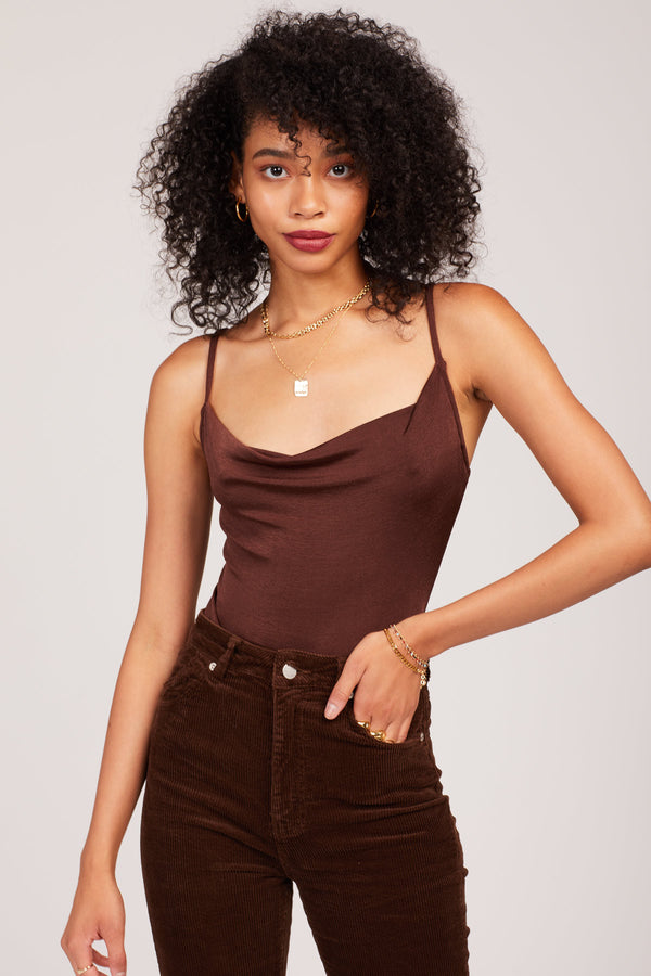 Brown Cowls In The Club Bodysuit