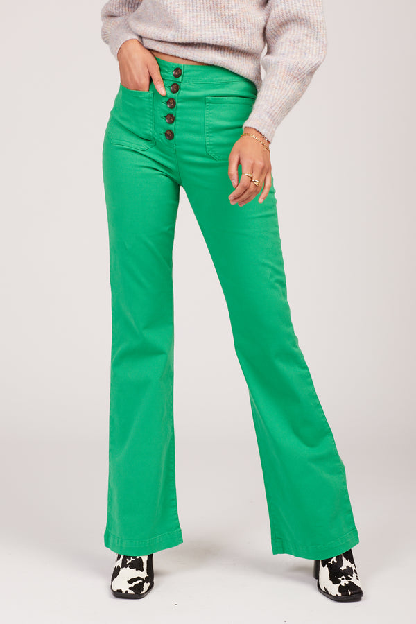Green Margherita Pants