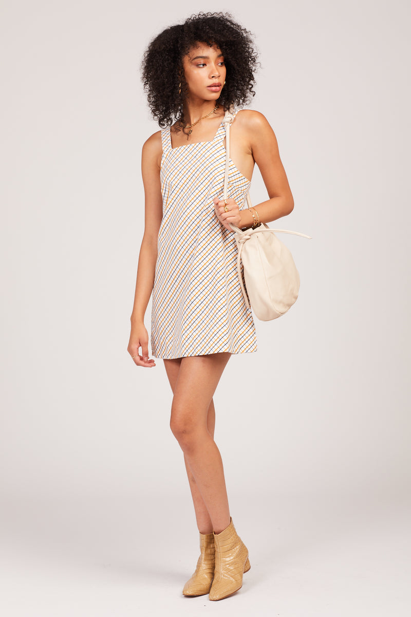 Tobacco Check Dionne Mini Dress