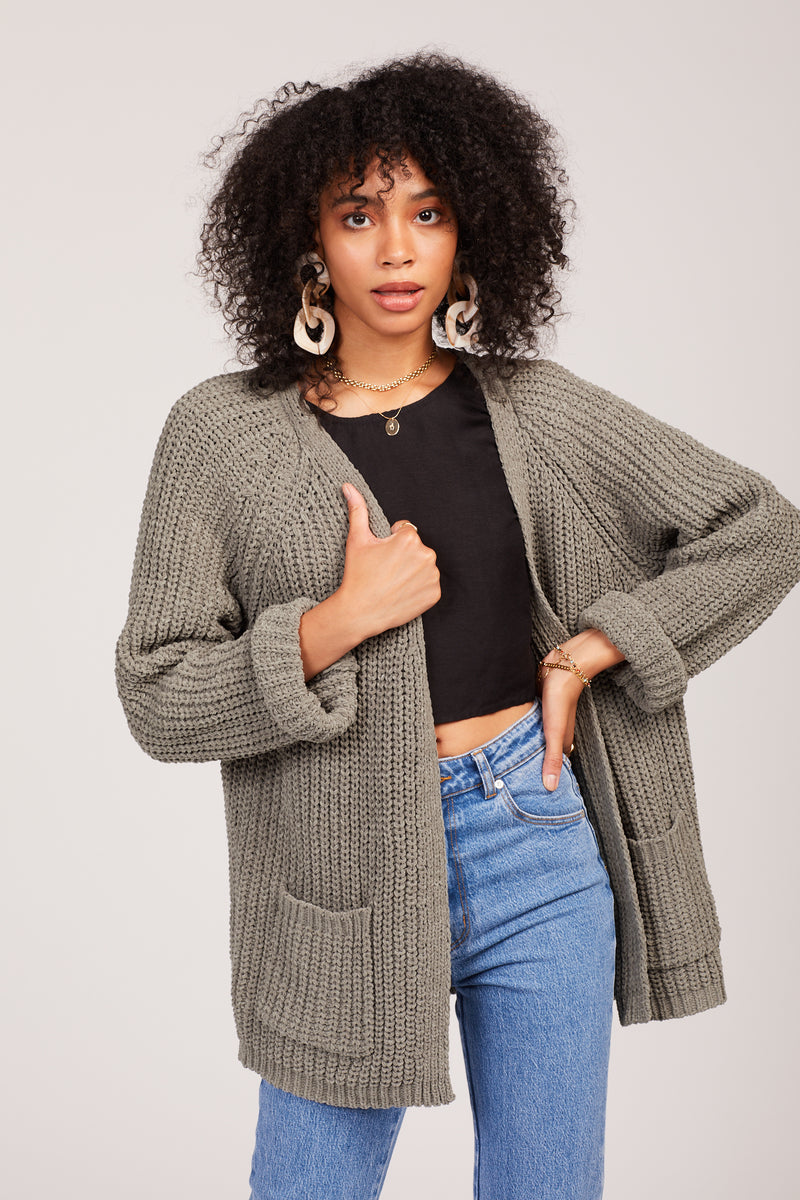 Dusty Green Mia Cardigan