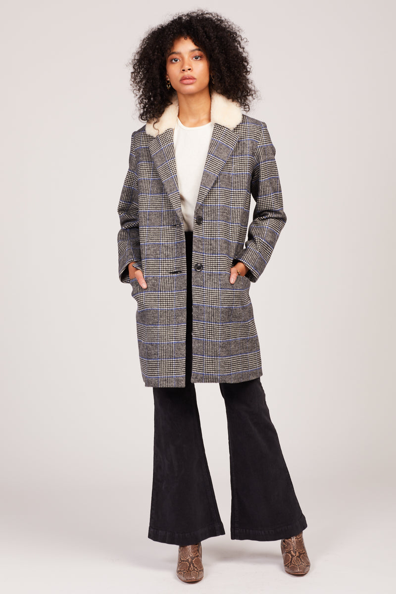 Plaid Amaya Coat