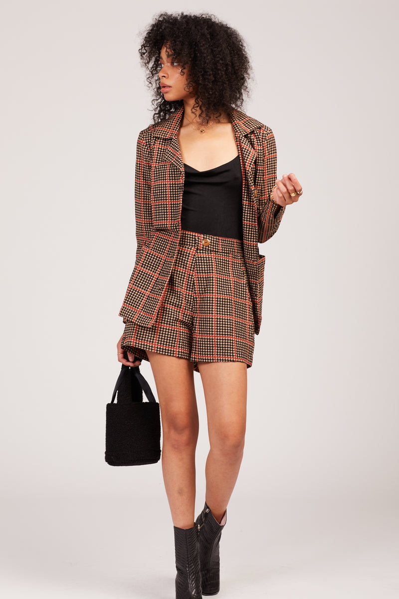 Houndstooth Walker Short