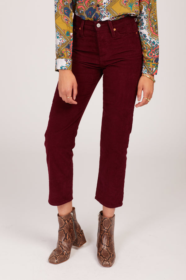 Shiraz Cord Wedgie Straight Jeans