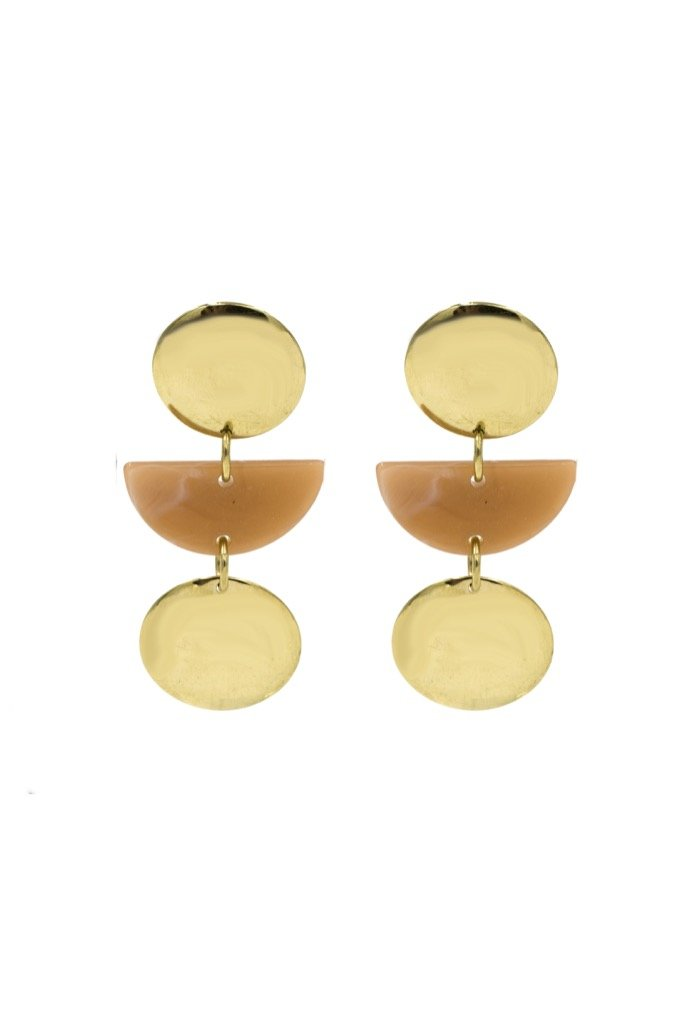 Gold Mauve Cybil Earrings