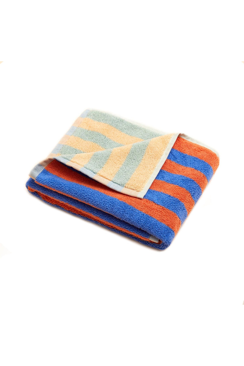Peach Stripe Hand Towel