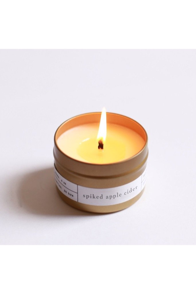 Spiked Apple Cider Travel Candle
