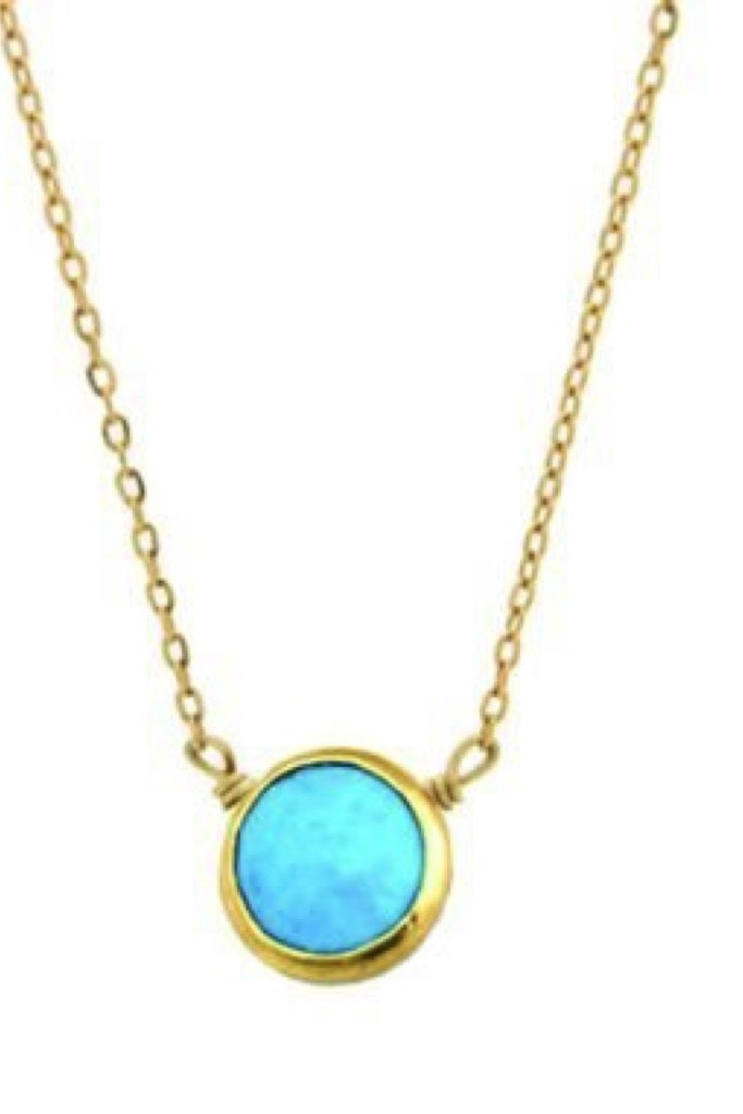 Gold Bezel Arizona Necklace
