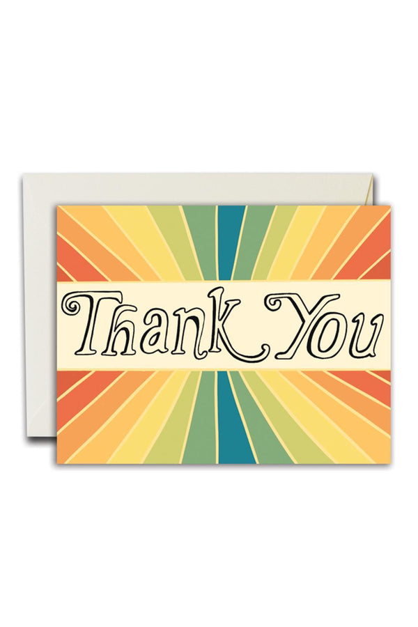Rainbow Thank You Card
