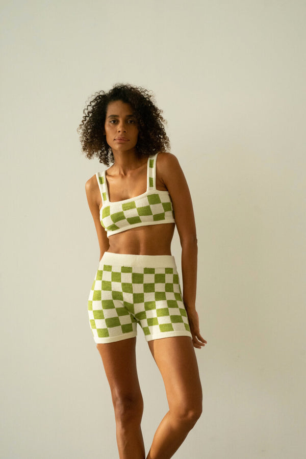 Wasabi Checkered Shorts