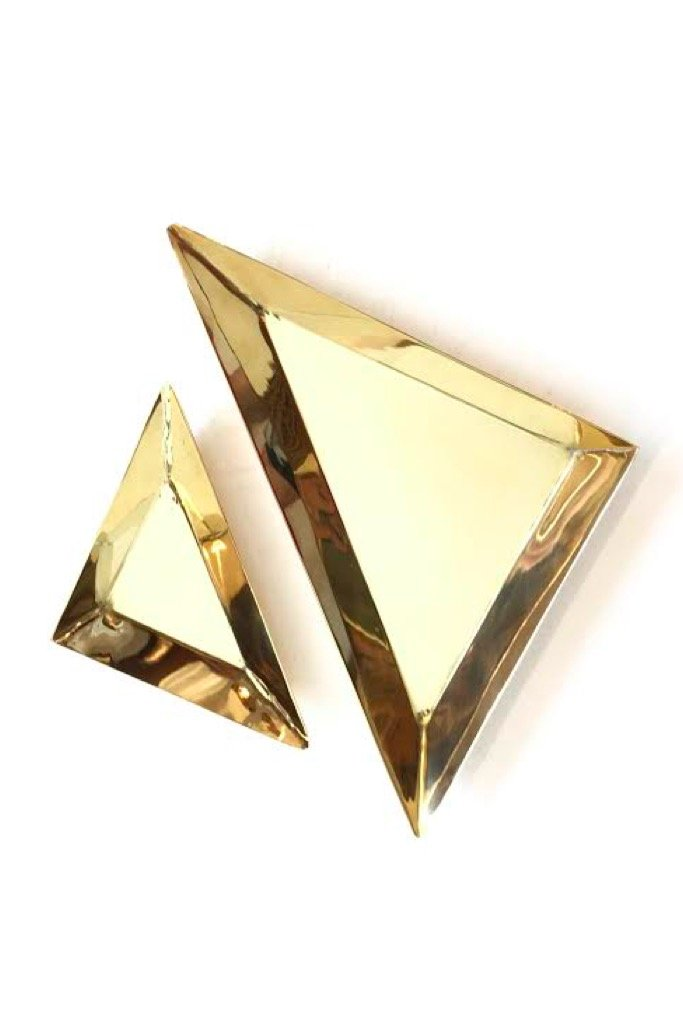 Large Brass Triangle Tray