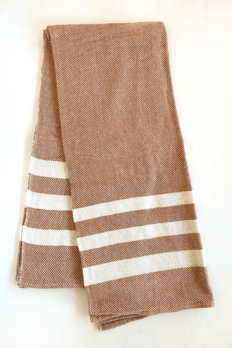 Rust Striped Blanket