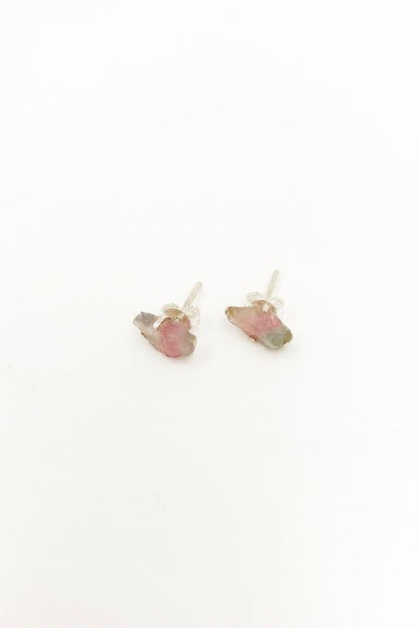 Raw Tourmaline Earring