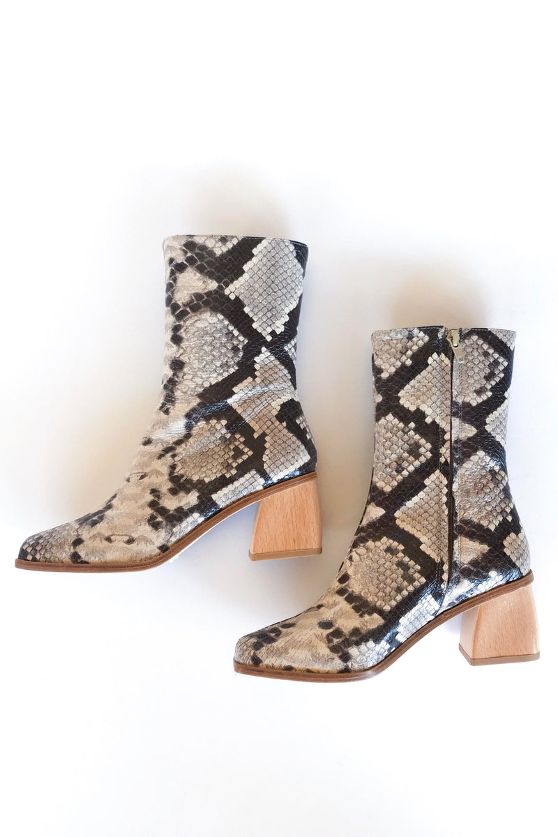 Brown Snake Emilia Boots