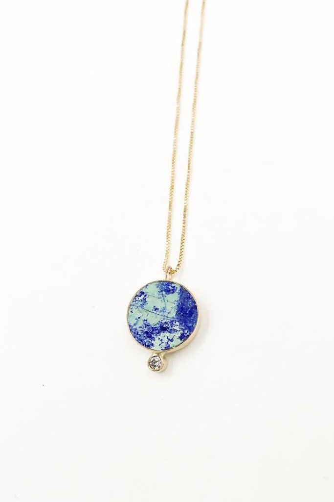 Azurite 14k Gold Solis Necklace