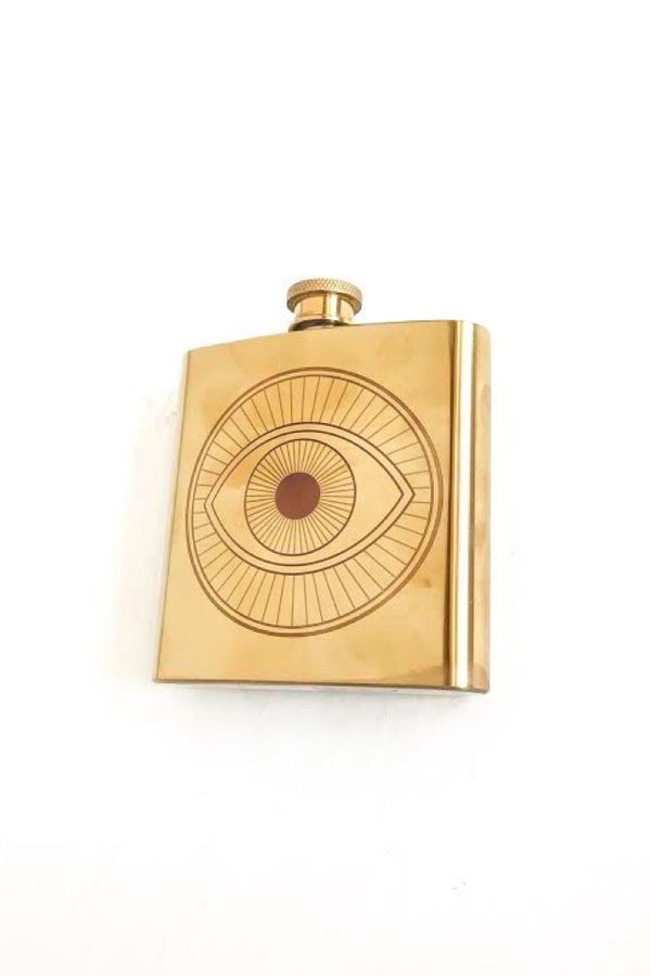 Small Gold Evil Eye Flask