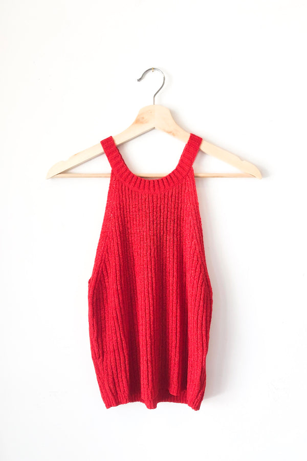 Red Devi Sweater Top