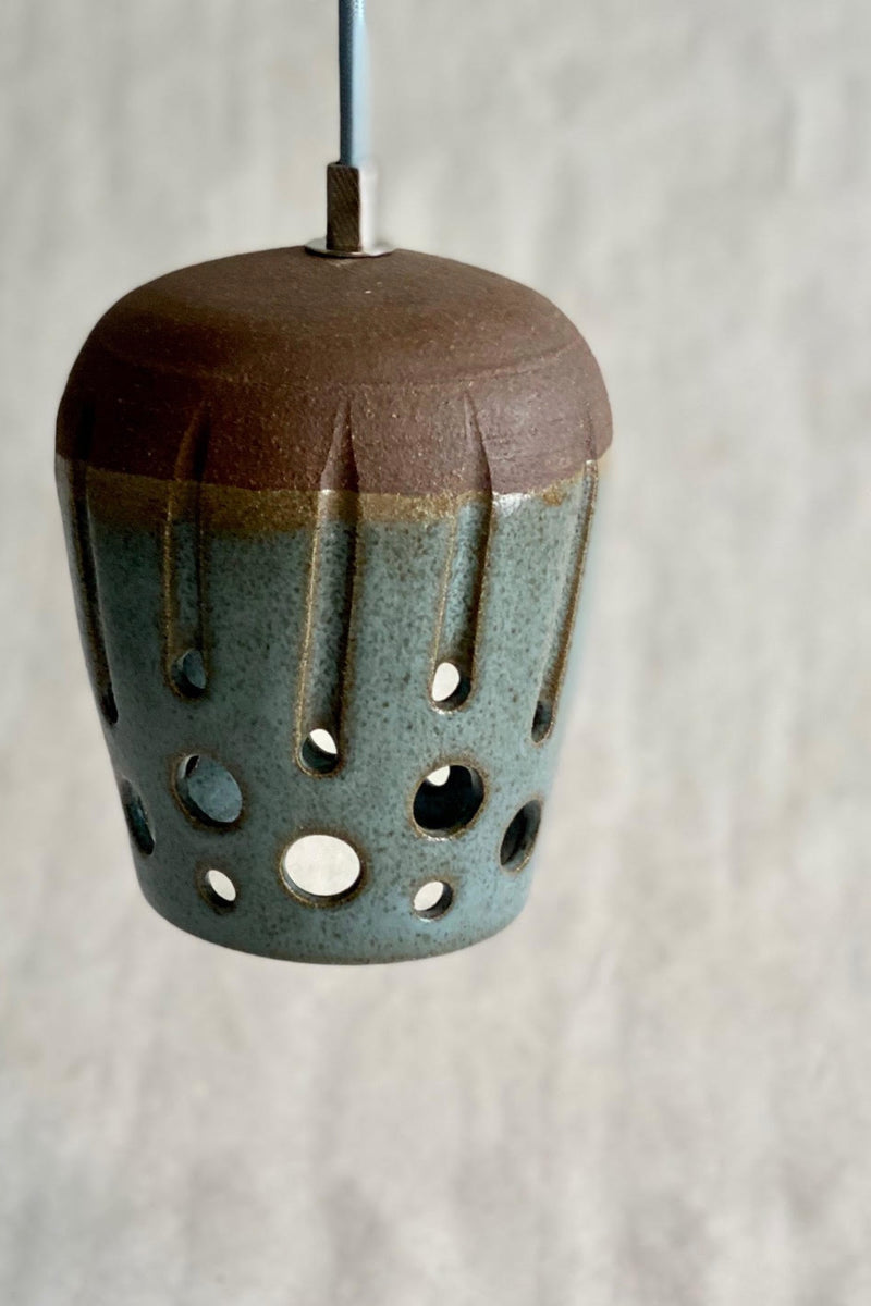 Blue-Green Beehive Pendant