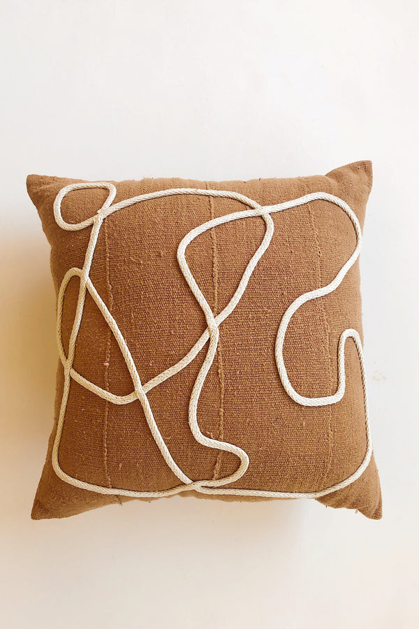Rust + Natural Kaiyo Pillow