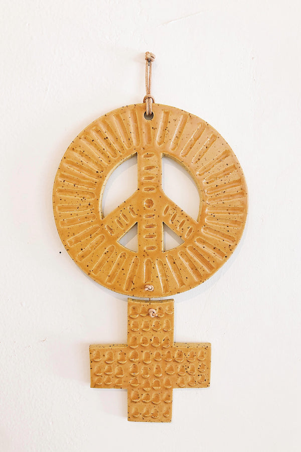 Brick Peace Sister Wall Hanging