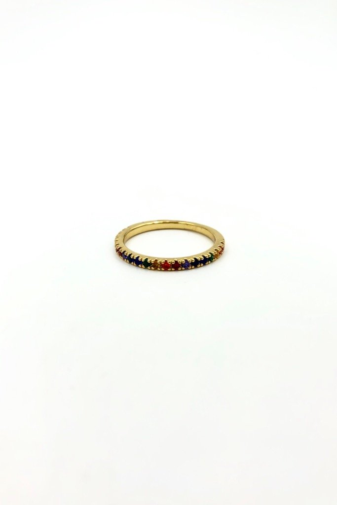 Gold Rainbow Maria Ring