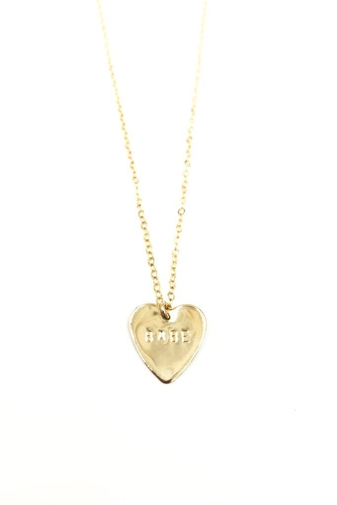 Gold Heart Babe Necklace