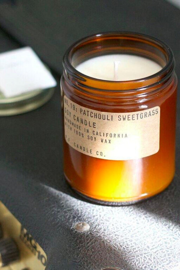 Mini Patchouli Sweetgrass Candle