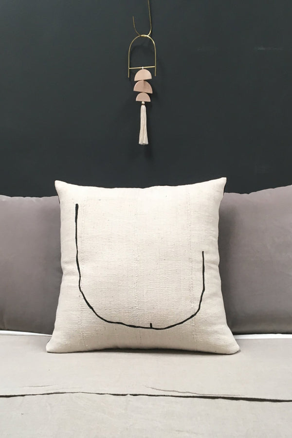 Natural + Black Tookus Pillow