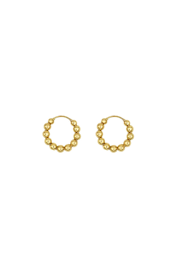 Gold Holly Hoops