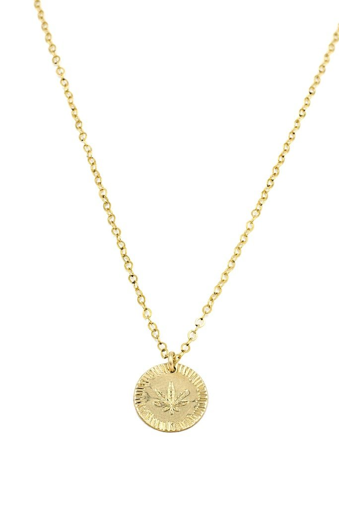 Gold Coin Mary Jane Necklace