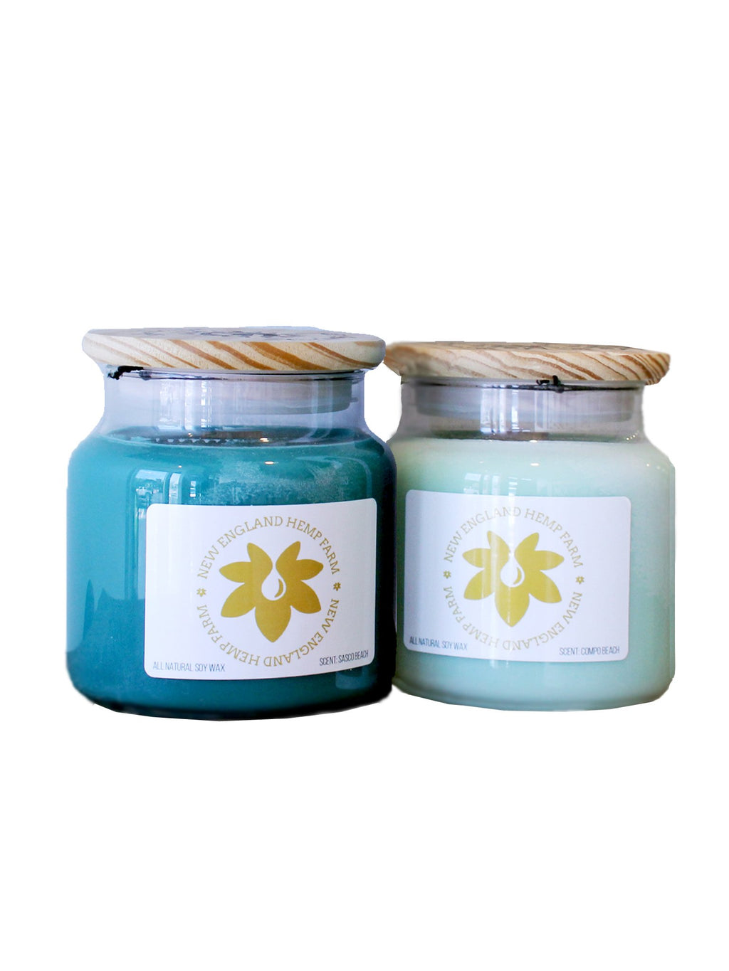 blue flower candles
