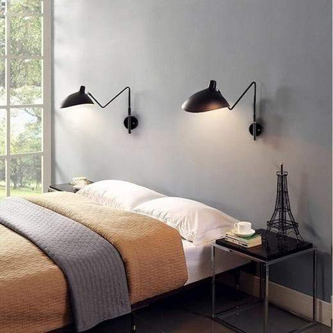 Wall Lamp with Two Swing Arms
