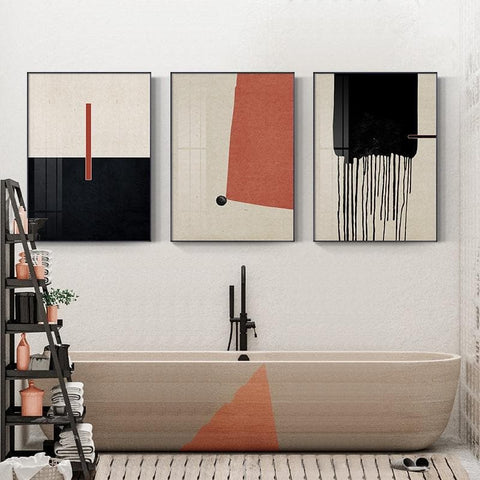 Modern Abstract Canvas Prints black and white