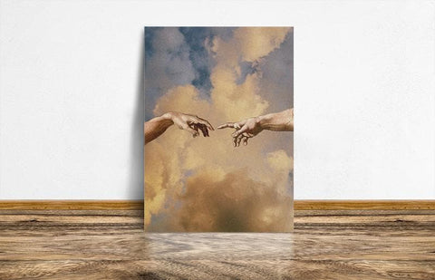 Creation of adam hands Famous Painting wall Art Canvas