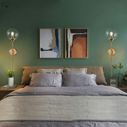 gold globe wall sconces bedroom