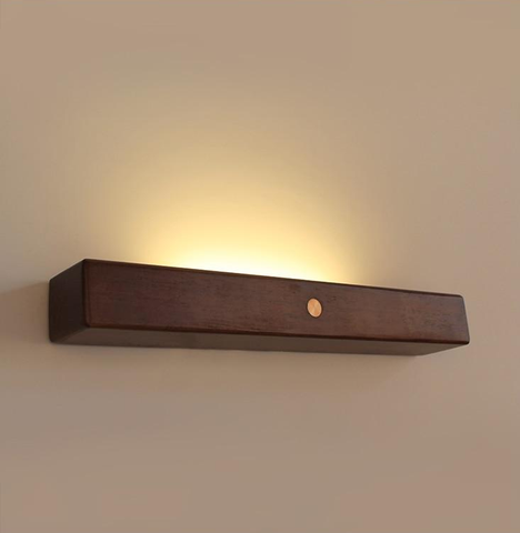 Linear Wall Sconce brown wood