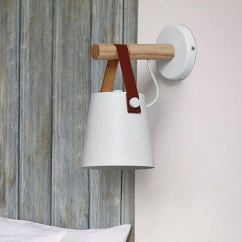 wall lamp with Leather Strap