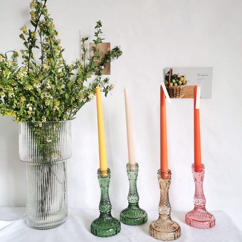 embossed-vintage-glass-candle-holders