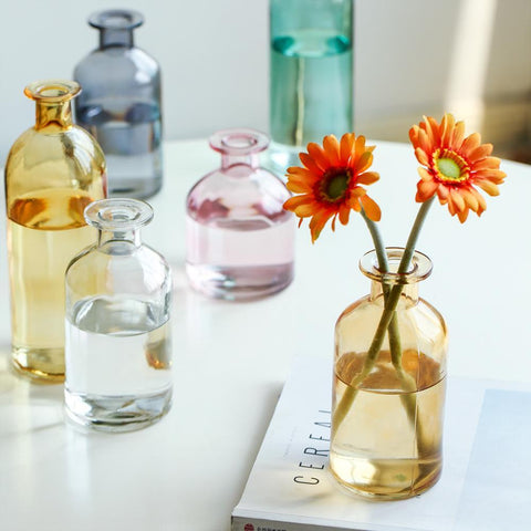 colorful-glass-bud-vases