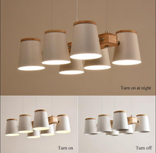 Load image into Gallery viewer, Modern Minimalist Wood and Metal Pendant lights with Bulbs
