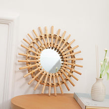 Load image into Gallery viewer, Sunny Day Wicker Mirror