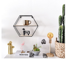 Load image into Gallery viewer, Round Geometric Wall Shelves in Metal and Wood