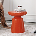 Stylish design colorful metal side table orange red