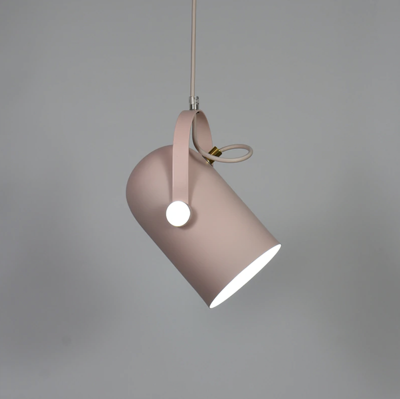 Post Modern Color Metal Spotlight Home Lighting and Decor Blush